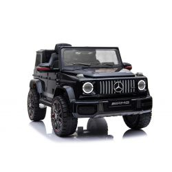 Electric Ride on Car Mercedes G New, Black, Original Licenced, Battery Powered, Opening Doors, Single Seat, 2x Engine, 12 V Battery, 2.4 Ghz remote control,Rear Suspension, Smooth start