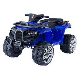 Quad elettrico ride ALLROAD 12V, blu, ruote EVA morbide enormi, 2 x 12V, motore, luci a LED, lettore MP3 con USB, batteria 12V7Ah