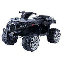 Quad elettrico ride ALLROAD 12V, nero, ruote EVA morbide enormi, 2 x 12V, motore, luci a LED, lettore MP3 con USB, batteria 12V7Ah
