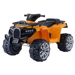 Quad elettrico ride ALLROAD 12V, arancione, ruote EVA morbide enormi, 2 x 12V, motore, luci a LED, lettore MP3 con USB, batteria 12V7Ah