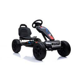 FORD Gokart - Pedal Car with idle run, black, Eva wheels, ORGINAL license