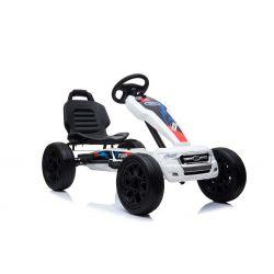 FORD Gokart - Pedal Car with idle run, white, Eva wheels, ORGINAL license
