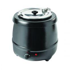 Bollitore per zuppe, esterno verniciato a polvere nera, 35 ° C - 80 ° C, 6 posizioni termostato, 400 Watt, 10L