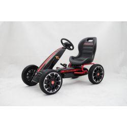 ABARTH Gokart - Pedal Car with idle run, black, Eva wheels, ORGINAL license