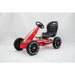 ABARTH Gokart - Pedal Car with idle run, red, Eva wheels, ORGINAL license