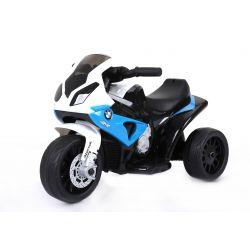 BMW S 1000 RR Triciclo, motociclo a batteria, 3 ruote, con licenza, 1x motore, batteria 6V, Blu