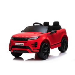 Electric Ride-On Range Rover EVOQUE, Red, Double Leather Seat, MP3 Player with USB Input, 4x4 Drive, 12V10Ah Battery, EVA Wheels, Suspension Axles, Key start, 2.4 GHz Bluetooth Remote Control, Licensed