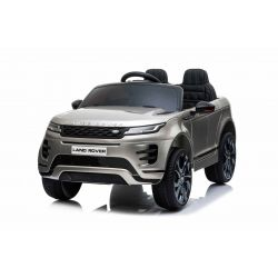 Electric Ride-On Range Rover EVOQUE, Grey Painted, Double Leather Seat, MP3 Player with USB Input, 4x4 Drive, 12V10Ah Battery, EVA Wheels, Suspension Axles, Key start, 2.4 GHz Bluetooth Remote Control, Licensed