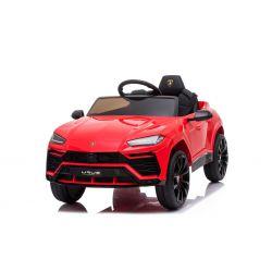 Sella elettrica per auto Lamborghini URUS, rossa, con licenza originale, alimentazione a batteria, porte ad apertura verticale, 2x motore, batteria da 12 V, telecomando da 2,4 Ghz, ruote in EVA morbide, sospensione, avvio regolare