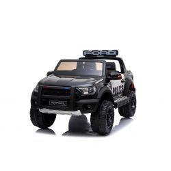 Auto elettrica Ford Raptor, nera, sospensioni di alta qualità, luci a LED, doppio sedile, 2,4 GHz RC, avviamento a chiave, 4 X MOTORE, USB, scheda SD, licenza ORIGINALE