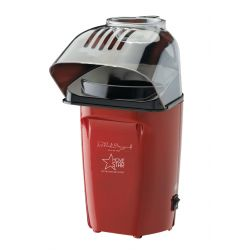 MovieStar Hot Air Popcorn Maker, Macchina del Popcorn, Acciaio inossidabile, 1200 W