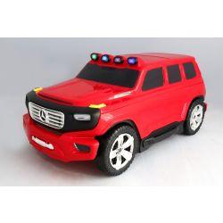 I bambini trascinano con sé i bagagli Mercedes-Benz Ener-G-Force con licenza - Borsa da viaggio piccola rossa
