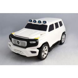I bambini trascinano con sé i bagagli Mercedes-Benz Ener-G-Force con licenza - Borsa da viaggio piccola bianca